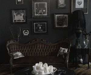 black, room, and gothic image