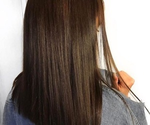 hair, brunette, and straight image
