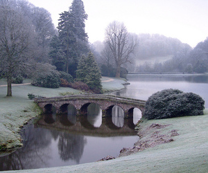 bridge, stourhead, and wiltshire image