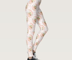 floral print, leggings, and women's wear image