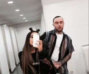 ariana grande, Relationship, and mac miller image