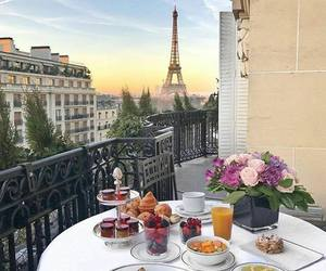 paris, france, and breakfast image