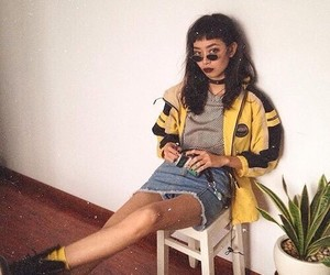 grunge, fashion, and yellow image