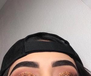 dress, eye makeup, and makeup goals image