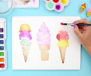 art, food, and ice cream image