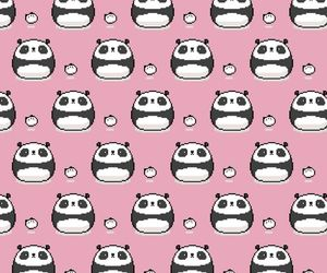 background, kawaii, and panda image