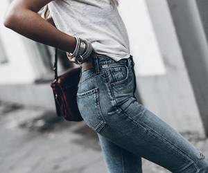 fashion, jeans, and looks image