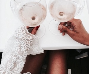 drink, wine, and white image