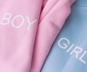 girl, pink, and boy image