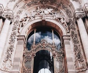 architecture, art, and rose gold image