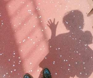 pink, aesthetic, and shadow image