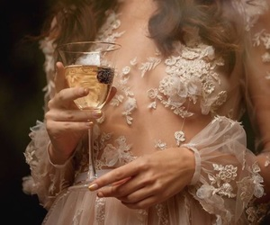 dress, wine, and aesthetic image