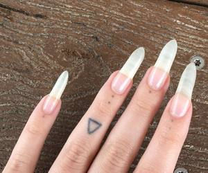 nails, tattoo, and girl image