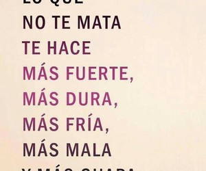 frases, guapa, and fuerte image