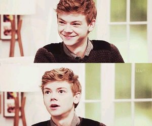 newt, thomas sangster, and the maze runner image
