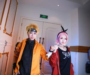 sakura, naruto uzumaki, and naruto cosplay image