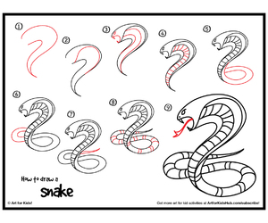 draw, drawing, and snake image
