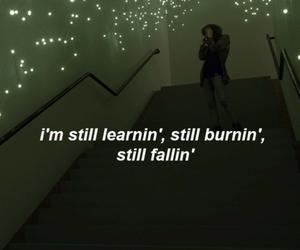 fall, Lyrics, and quote image