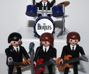 beatles, george, and john image