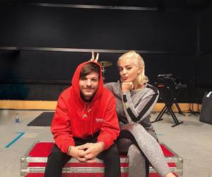 bebe rexha, louis tomlinson, and one direction image