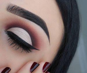 makeup, beauty, and eyebrows image