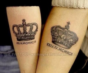 tattoo and king & queen image