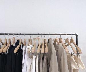closet, minimal, and clothes image