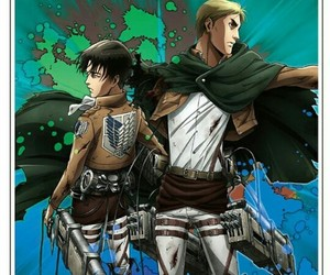 anime, shingeki no kyojin, and attack on titan image