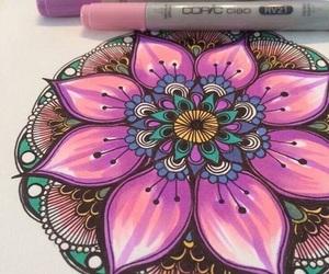 mandala, art, and colors image