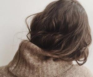 girl, brown, and hair image