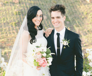 panic! at the disco, brendon urie, and sarah urie image