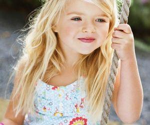 baby girl, girl, and beautiful. child image