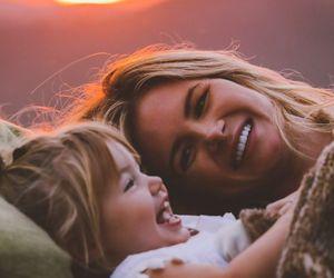 baby girl, girl, and mom image