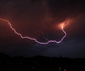 sky, lightning, and storm image