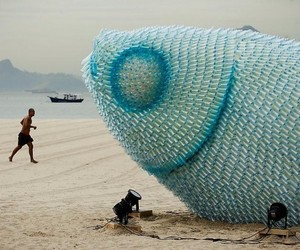 beach, bottles, and giant image