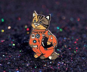 art, astronaut, and cat image