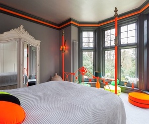 bed, dresser, and bedroom image