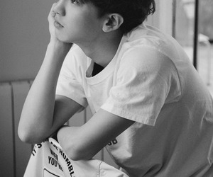 black and white, exo, and kpop image