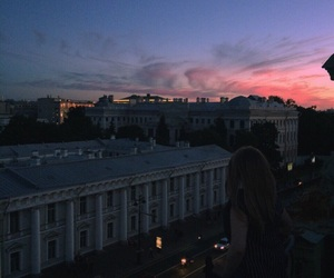 city, clouds, and girls image