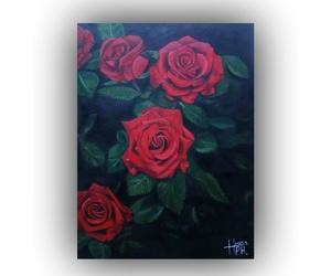 arte, oil, and rosas image