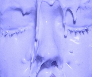 face, purple, and aesthetic image