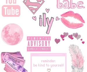 edit, pink, and png image