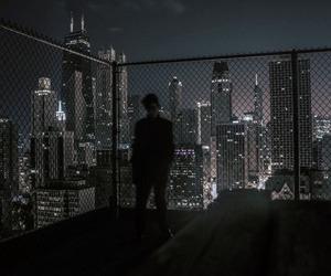 city, night, and grunge image