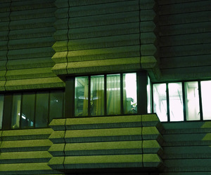 architecture, brutalism, and green image