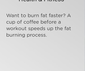coffee, exercise, and fitness image