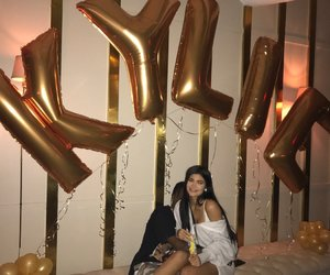 kylie jenner, travis scott, and birthday image