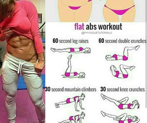 abs, workout, and routine image