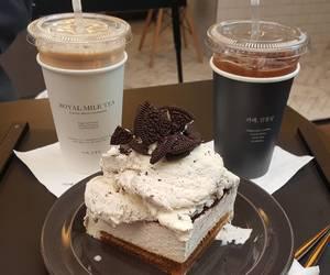 food, coffee, and cake image