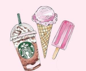 ice cream and starbucks image