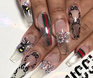 nails, gucci, and style image